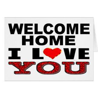 Cartes Maison bienvenue je t'aime