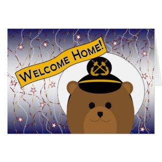 Cartes Maison bienvenue - marine