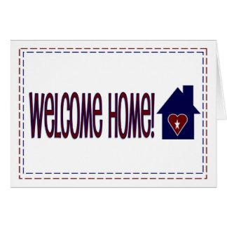 Cartes Maison bienvenue ! - Rouge, blanc et bleu