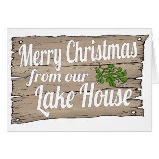 Cartes maison de lac de Noël