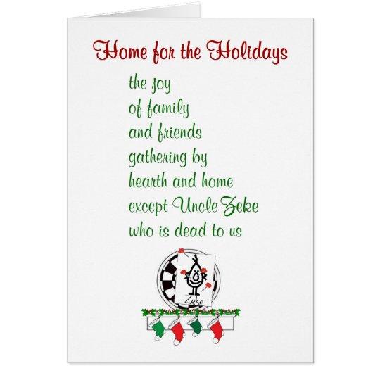 Fabulous Cartes Maison pour les vacances - un poème drôle de Noël | Zazzle.fr JP33