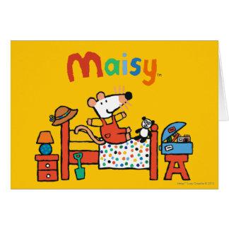 Cartes Maisy adorable dans des de façon générale rouges