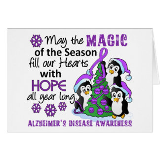 Cartes Maladie d'Alzheimer de pingouins de Noël