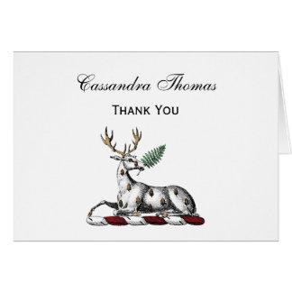 Cartes Mâle de cerfs communs avec l'emblème héraldique de