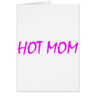 Cartes Maman chaude (rose)