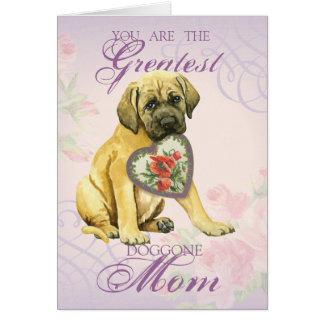 Cartes Maman de coeurs de mastiff