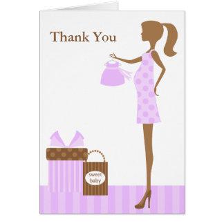 Cartes Maman de lavande à être Merci de baby shower