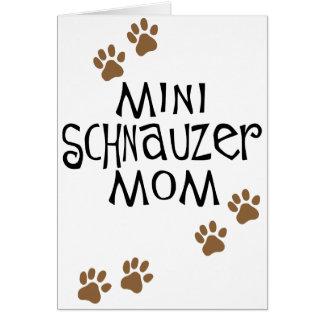 Cartes Maman de Schnauzer miniature