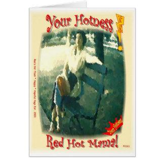 Cartes Maman d'un rouge ardent/votre Hotness