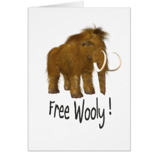 """Cartes """" Mammouth Wooly Wooly """"libre"""