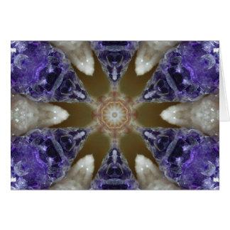 Cartes Mandala de cristal de plaisir d'améthyste