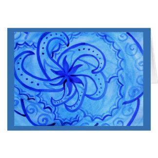 Cartes Mandala de tourbillonnement d'aquarelle abstraite