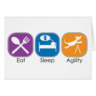 Cartes Mangez l'agilité de sommeil