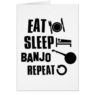 Cartes Mangez le banjo de sommeil