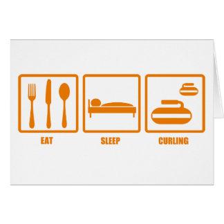 Cartes Mangez le bordage de sommeil
