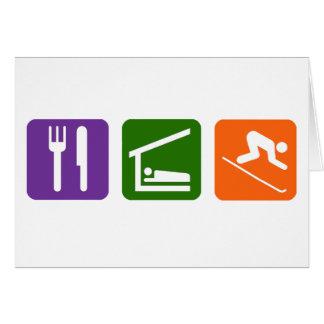 Cartes Mangez le ski de sommeil