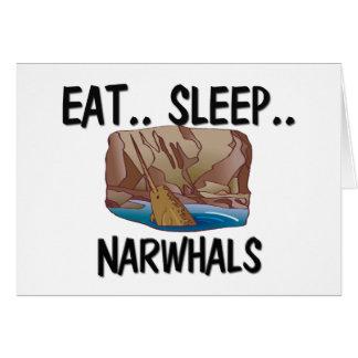 Cartes Mangez le sommeil NARWHALS