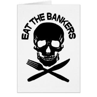 Cartes mangez les banquiers crâne et os