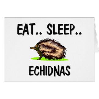 Cartes Mangez les ECHIDNAS de sommeil