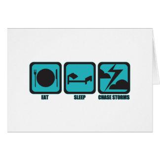 Cartes Mangez les tempêtes de chasse de sommeil