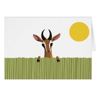 Cartes Mangue le coup d'oeil de gazelle