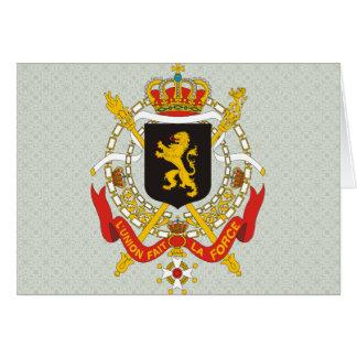Cartes Manteau de la Belgique de détail de bras