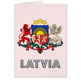 Cartes Manteau de la Lettonie des bras