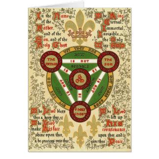 Cartes Manuscrit lumineux de la trinité sainte