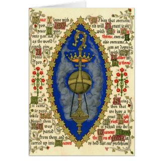 Cartes Manuscrit lumineux pour le jour d'ascension
