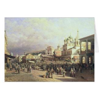 Cartes Marché dans Nishny, Novgorod, 1872