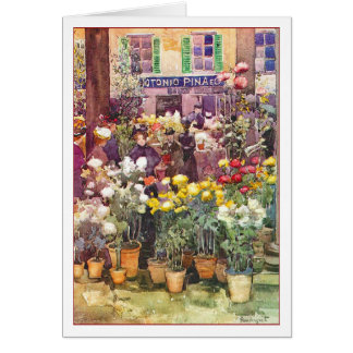 Cartes Marché italien de fleur par Maurice Prendergast