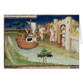 Cartes Marco Polo avec l'arrivée d'éléphants et de