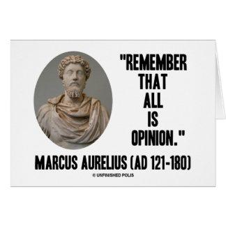 Cartes Marcus Aurelius se rappellent que tout est