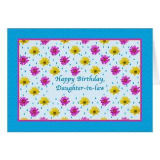 Cartes Marguerites d'anniversaire, de belle-fille, roses