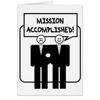 "Cartes Mariage accompli ""par mission"" (homosexuel)"