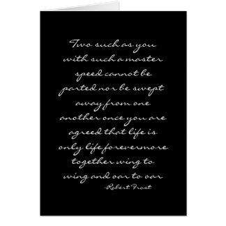 Cartes Mariage Citation-Robert Frost