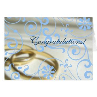 Cartes Mariage Congrats (couleur personnalisable !)
