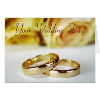 Cartes Mariage Congrats/jeune mariée et marié