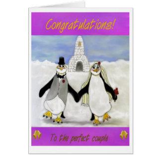 Cartes Mariage de pingouins