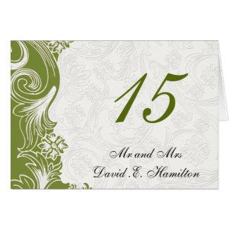 Cartes Mariage floral vert et blanc de ressort