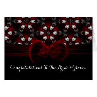 Cartes Mariage gothique de nuit foncée rouge et noire