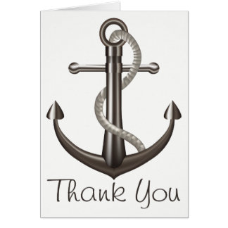 Cartes Mariage nautique de marin d'ancre de bateau de