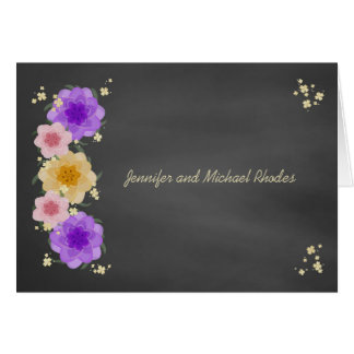 Cartes Mariage rustique de tableau floral