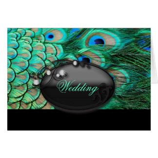Cartes mariage turquoise de paon de turquoise vintage