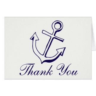 Cartes Marin nautique d'ancre de bateau de Merci de bleu