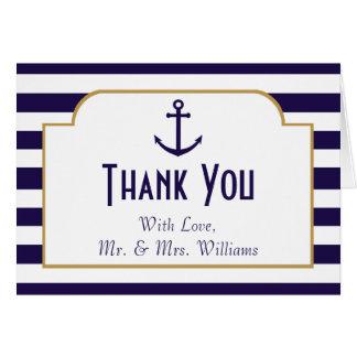 Cartes Marine nautique et mariage blanc d'ancre de rayure