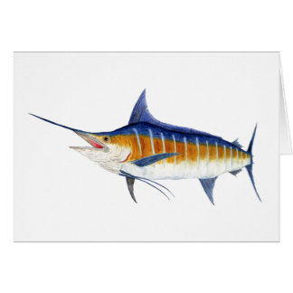 Cartes Marlin bleu atlantique