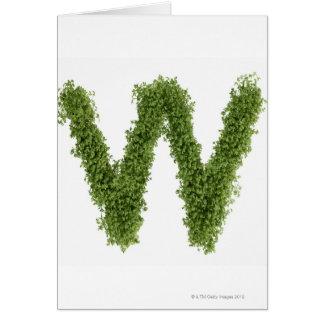 """Cartes Marquez avec des lettres """"W"""" en cresson sur"""