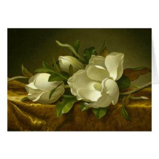 Cartes Martin Johnson Heade - magnolias sur le velours