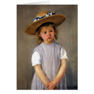 """Cartes Mary Cassatt """"enfant dans un chapeau de paille """""""